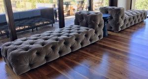 2 x LG Velvet studded Chaise