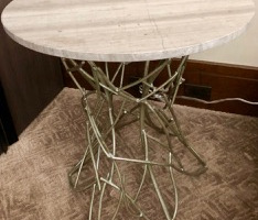 2x marble metal side tables