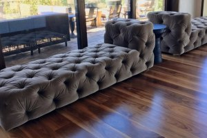 2x velvet day beds