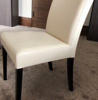 Cream leather chair (with office desk)