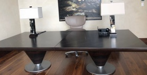 Gorgetti desk and  leather Chair