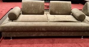 1 x Cameleon Olive Velvet Sofa