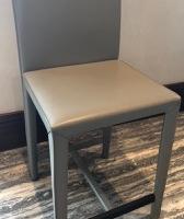 4 x leather bar stools
