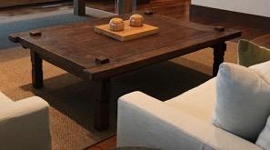 LG Antique Wood Coffee Table Slight damage