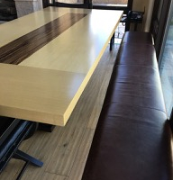 Large Two Tone Wood Dining Table image 2