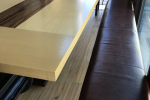 Large two tone wood dining table