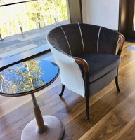 Wood Glass Side Table