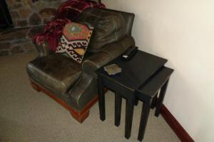 166_ 167 Leather Club Chair. Nesting TablesJPG