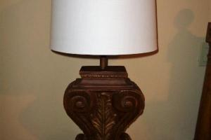 197 Pair Scroll Look Lamps