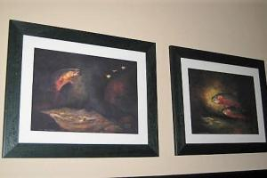 202 Trout Print in Black Frame