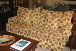 163 Leaf Pattern Sleeper Sofa