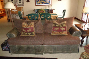 165 A Leather Sleeper Sofa