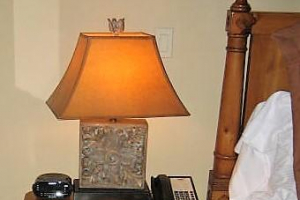 195 Pair Carved Box Look Lamps