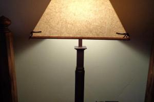 199 Square Base Iron Lamp
