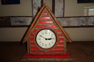 230 Red Cabin Clock